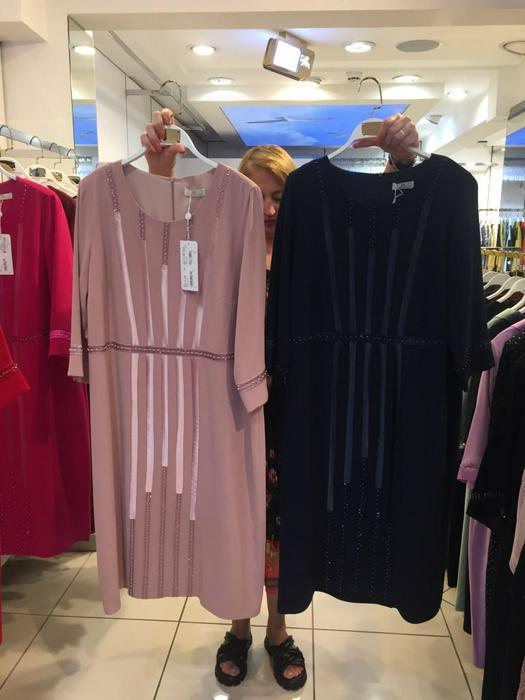 Большие размеры платья 1011114