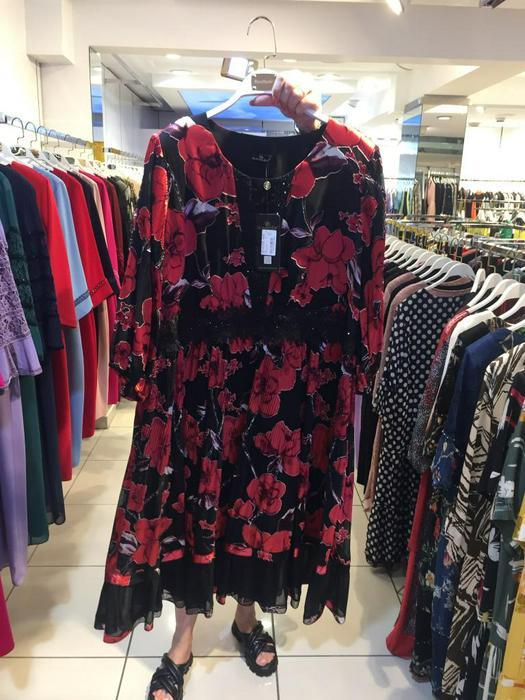 Большие размеры платья 1011117