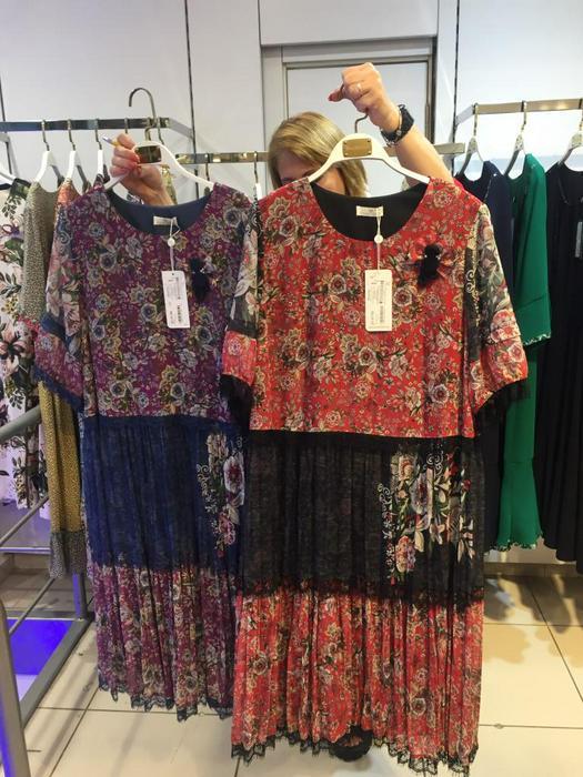 Большие размеры платья 1011120