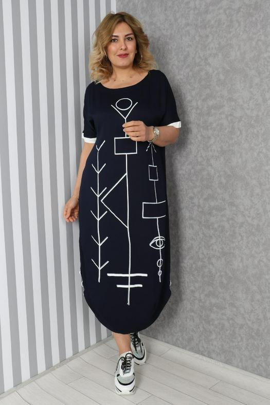 Большие размеры платья 965836