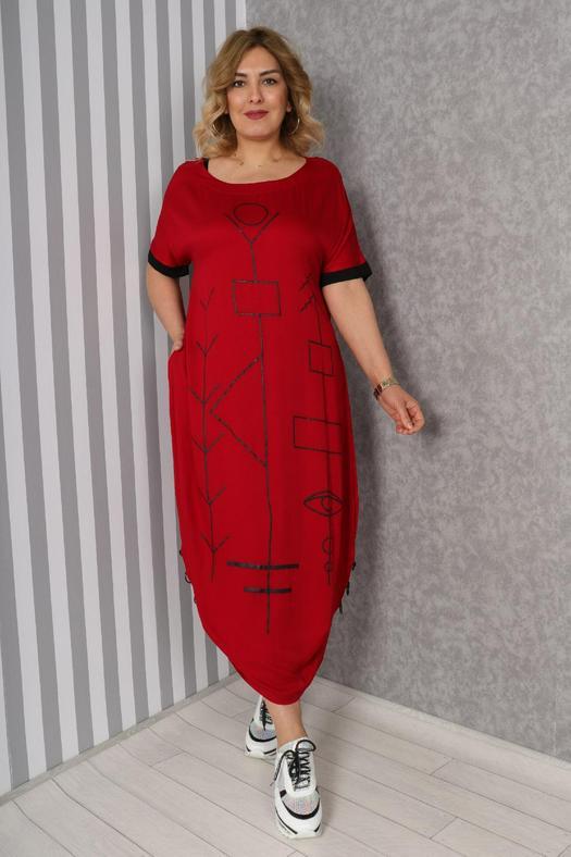 Большие размеры платья 965835