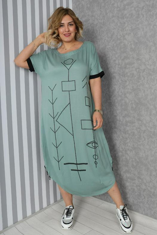 Большие размеры платья 965834