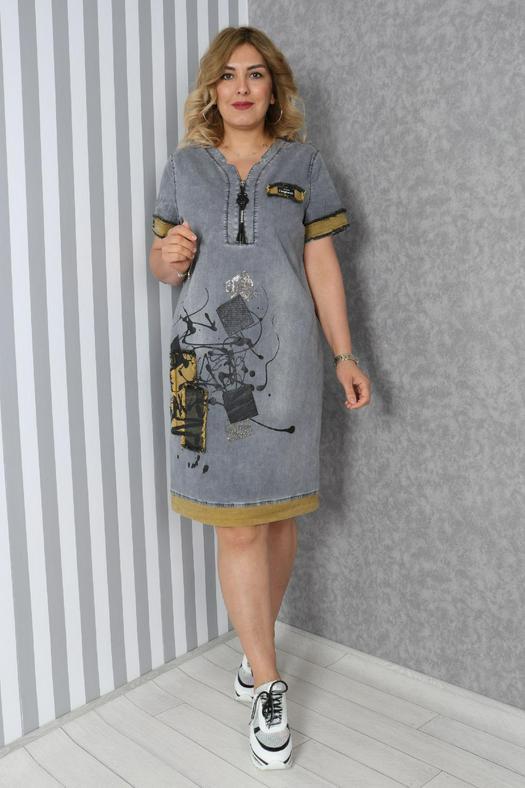 Большие размеры платья 965829